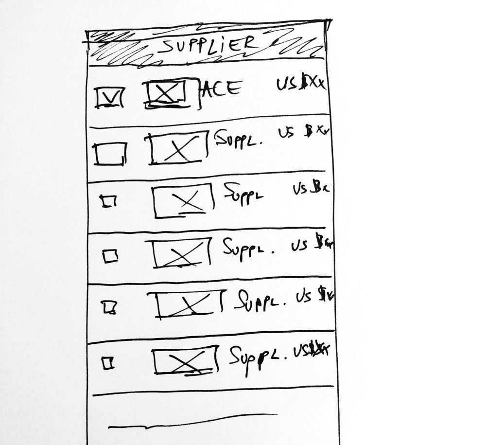 image of a low fidelity wireframe